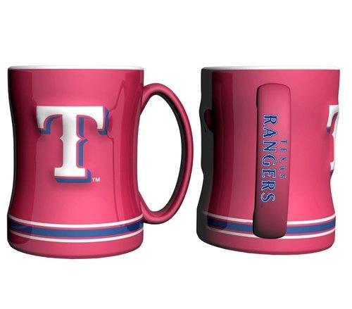 Rangers Mug Coffee (Texas Rangers Coffee Mug - 14oz Sculpted (Red))