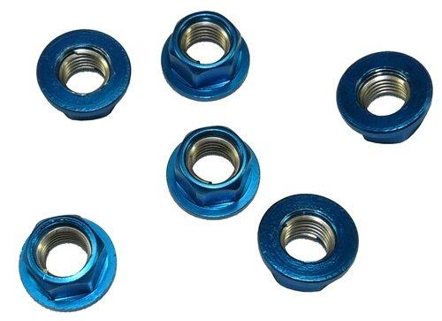 Yana Shiki SNU101BU Blue Sprocket Nut for Sport Motorcycles, (Pack of 6)