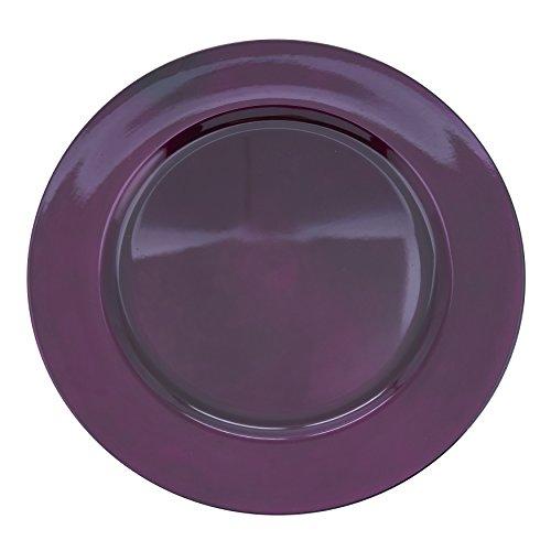 SARO LIFESTYLE Couleurs du Monde Collection Classic Design Charger Plates, 13