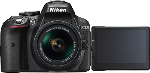 Nikon D5300 Digital SLR Camera - Black (24.2 MP, AF-P 18-55mm VR Lens Kit) 3-Inch LCD Screen - International Version (No Warranty) by Nikon