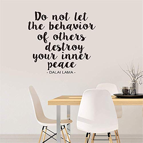 Maseo Wall Sticker Quote Wall Decal Funny Wallpaper Removable Vinyl Do Not Let The Behavior of Others Destroy You Innet Peace for Living Room Bedroom -