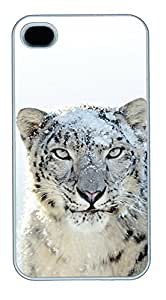 iPhone 4 4s Cases & Covers - Mountain Lion Custom PC Soft Case Cover Protector for iPhone 4 4s - White
