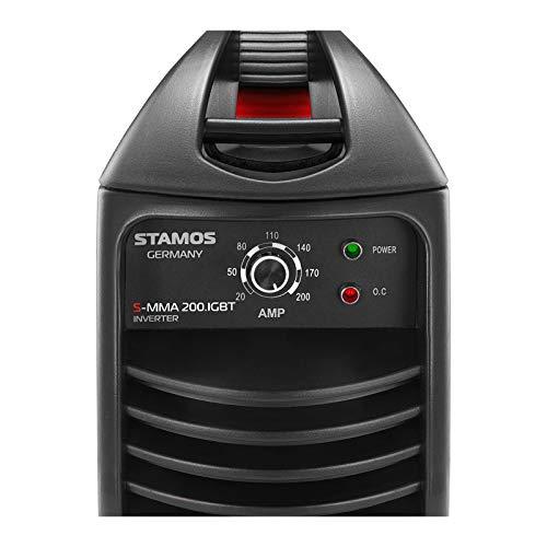 Stamos Germany - S-MMA 200.IGBT - Equipo de soldar por electrodo - 200 A / 230 V - Envío Gratuito: Amazon.es: Hogar