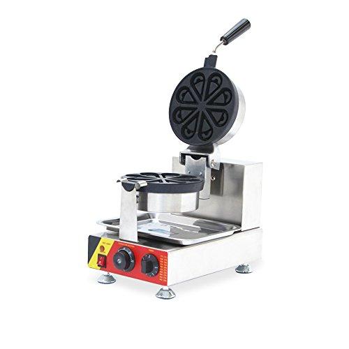 110V/220V Electric Waffle Maker Machine Waterdrop Pancakes Baker Oven (110V USA plug)