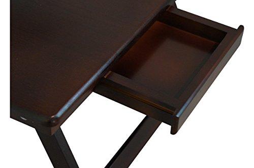Superb Portable Lap Desks Bamboo Walnut Laptop Lap Desk With Drawer ...