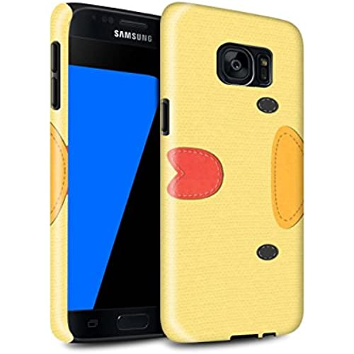 STUFF4 Gloss Tough Shock Proof Phone Case for Samsung Galaxy S7/G930 / Chicken Design / Animal Stitch Effect Collection Sales