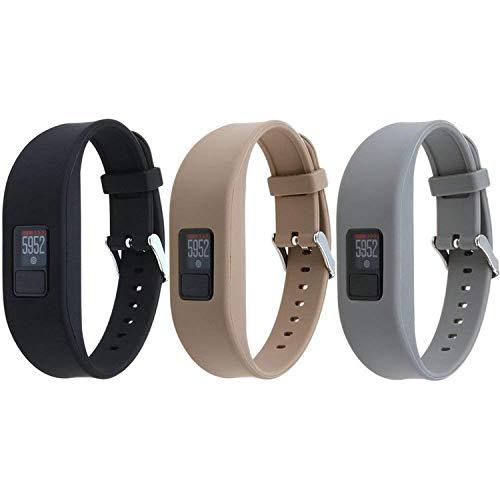 HWHMH Garmin Vivofit 3 Buckle Bracelet - Adjustable Wristband and Wristwatch Style - Silicone Replacement Secure Band for Garmin Vivofit 11…