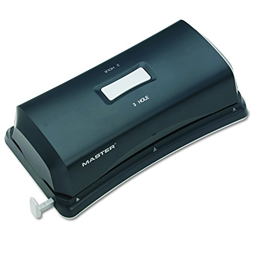 Martin Yale EP323 Master Electric Duo 2 or 3 Hole Punch; Punches Up To 15 Sheets of 20 Pound Bond Paper at a Time, Large Capacity Paper Chip Pan