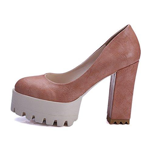 Balamasa Meisjes Laag Uitgesneden Bovendeel Zware Hakken Platform Microfiber Pumps-schoenen Sorrel