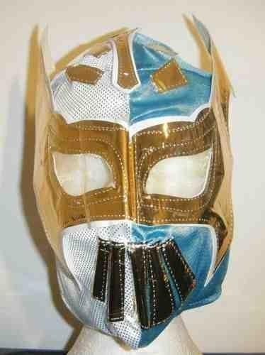 ASHLEYS Blue And White Sin Cara Wrestling