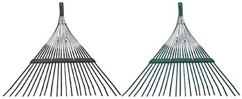 Rastrillo de Hoja de rastrillo de jardín Plegable de succión para rastrillo Rastrillo de Metal telescópico, rastrillo de Hojas Plegable Ajustable para Limpieza rápida de césped y rastrillo: Amazon.es: Hogar