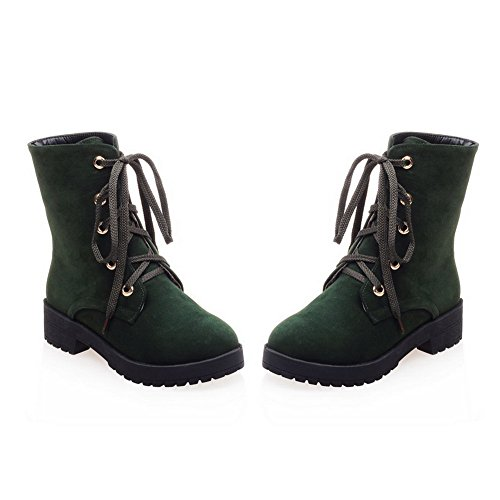 Rubber Toe Heel amp;N Bridal AN Lace Light Boots Boots Toe Urethane Lining Green Nubuck Round Womens Up Warm A Waterproof Weight Kitten DKU01870 Closed Xwwzvq