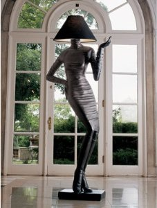 Sassy Sexy Lady High Fashion Couture Floor Lamp by EttansPalace