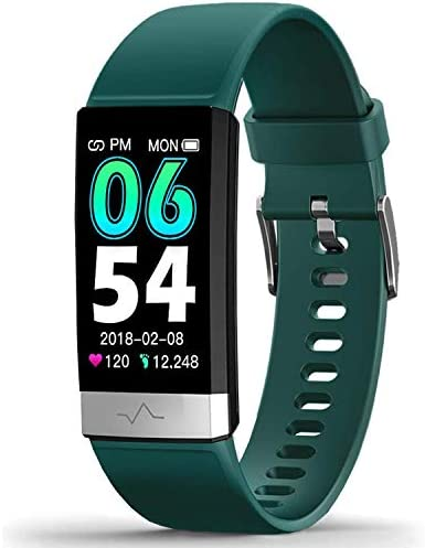 MoreProfessional Fitness Tracker HRV,HD Color Screen Activity Tracker with Heart Rate Blood Pressure,Waterproof Health Watch,Sleep Monitor Pedometer Step Counter for Men Women Android iOS