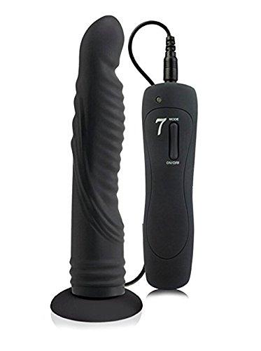 LIBO Multi-speed Barbed Super Dildo Vibrator Soft Simulation Body Massager