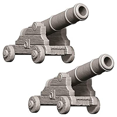 WizKids Deep Cuts Unpainted Miniatures: W9 Cannons: Toys & Games
