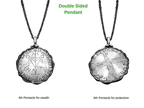 Seal Of Solomon Real Silver Men's Necklace Wealth & Protection Blessings Jewelry | Alef Bet Jewelry -