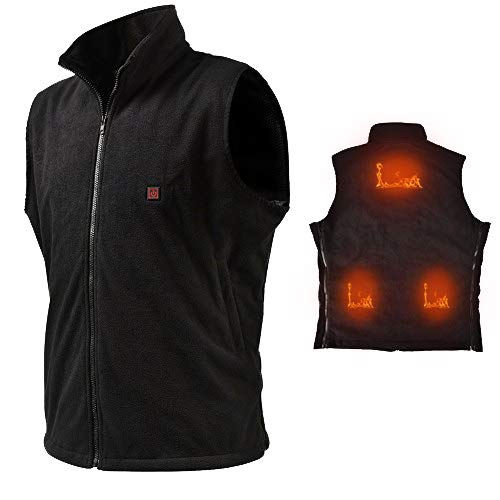 Vinmori Electric Heated Vest, Washable Size Adjustable USB Charging Heated Clothing (Battery Not Included)