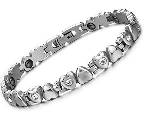 Dalino Fashion and Personality New Korean Style Fashion Jewelry Titanium Steel Rhinestone Love Heart Bracelet by Dalino