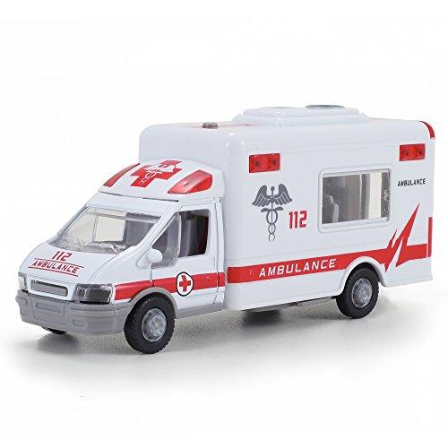 Diecast Ambulance Pullback Friction Emergency