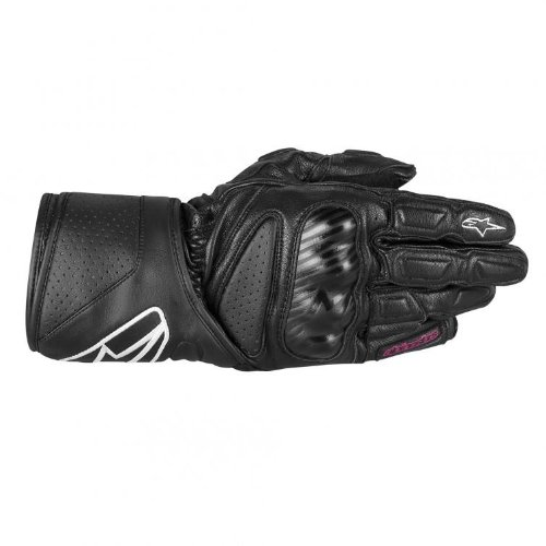 Alpinestars Stella SP-8 Womens Gloves , Gender: Womens, Apparel Material: Leather, Distinct Name: Black, Primary Color: Black, Size: Lg 3518313-10-L
