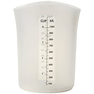 Norpro Silicone Measure Store and Pour Cup (4 Cup Capacity)