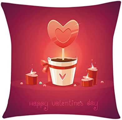 Houshelp Love Red Pink Sweet Heart Valentines Pillow Cover for Couch Happy Valentine's Day Decorations Throw Pillow Home Decor Pillowcase Faux Linen Cushion Case Sofa Throw Pillow Home Decor 45x45cm