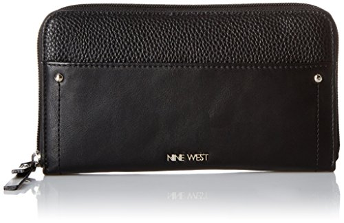 Table Treasure Zip Around Wallet With Pouch Wallet, black/black/black, One Size (Pouch Around Zip)