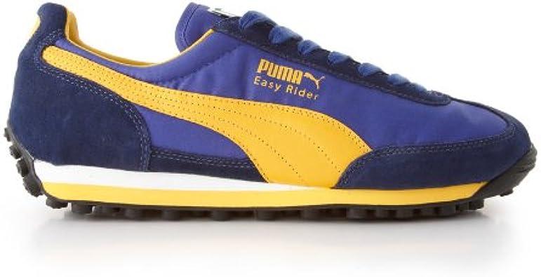 Puma Easy Rider, Blue/Yellow Uk Size