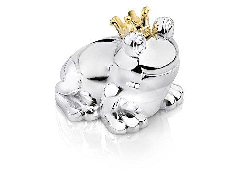 Zilverstad 6144261 Frog Prince Money Box 10 x 9 x 9 cm Silver-Plated / Tarnish-Proof