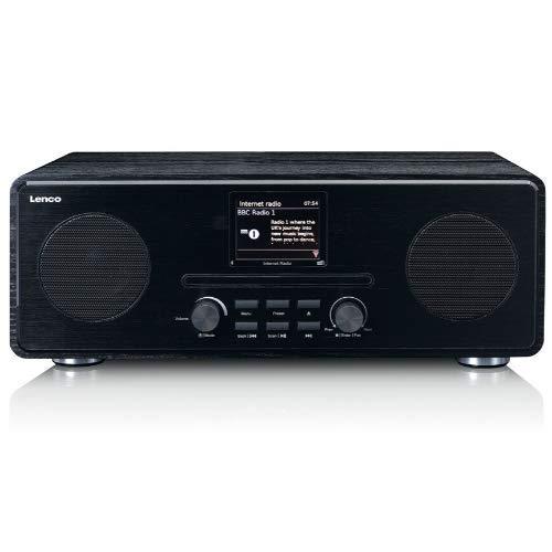 Lenco DIR 260 internetradio met W-LAN – digitale radio met Bluetooth en Wi-Fi – DAB+ FM-radio – CD speler 2,8…