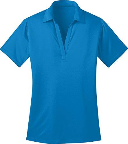 Port Authority Ladies Silk Touch™ Performance Polo. L540 (Brilliant Blue) (Medium)