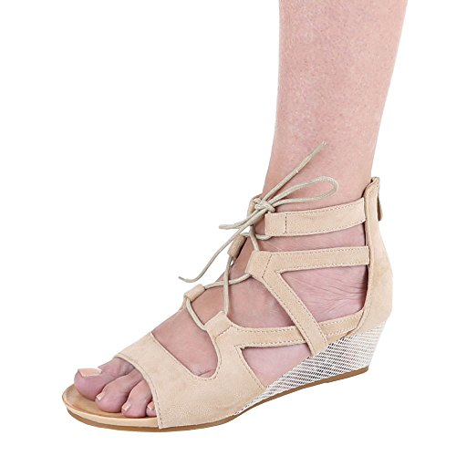 Ital-Design - sandalias mujer Beige - beige