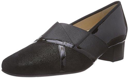 Pieds Evelyn du Weite Hassia J Couvert Avant Chaussures à Schwarz Noir Femme 0100 Schwarz Talons 800qd