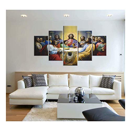 FlowerBeads 5D DIY Full Diamond Painting, Jesus The Last Supper Wall Art Christian Poster Christ Canvas Prints Art Home Decor for Living Room Bedroom ()