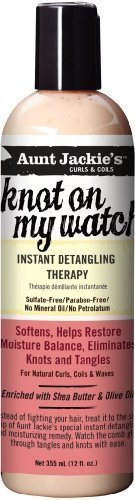 Aunt Jackie's Knot On My Watch Instant Detangling Therapy, 12 oz (2 Pack)
