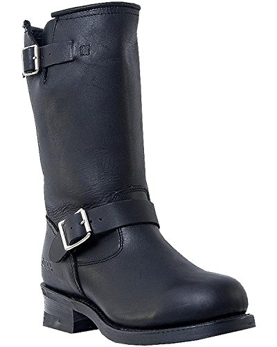 Mens Black Engineer Boots - 6