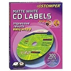 Avery 98122 Labels for use with CD Stomper CD/DVD Labeling System, White Matte, 300/pack