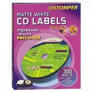 Avery 98122 Labels for use with CD Stomper CD/DVD Labeling System, White Matte, 300/pack by Avery