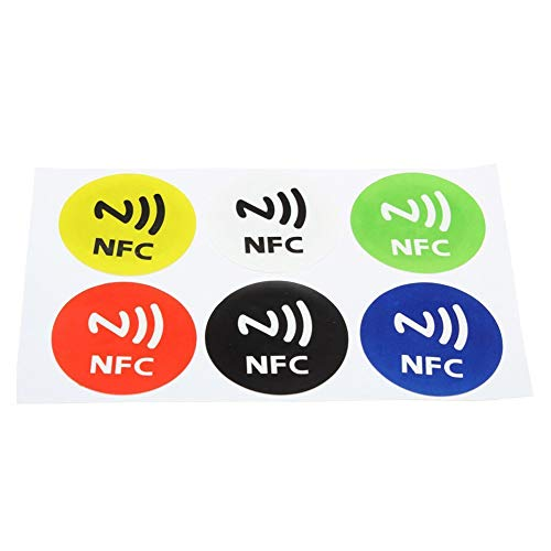 Domccy 6Pcs NFC Intelligent Labels Stickers NFC Smart Tags Stickers Waterproof NFC Smart Tag Stickers RFID Tag Adhesive Label for Samsung S3 S4 Stationery and Office Supplies, Home Office -