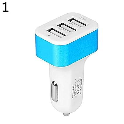 Amazon.com: Ugthe - Cargador de coche con 3 puertos USB para ...