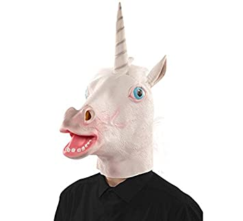 EUROCARNAVALES Máscara de Unicornio Blanco