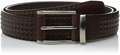 Stacy Adams Embossed Belt (Stacy Adams Men's 34mm Diamond Embossed Leather Belt, Brown,)