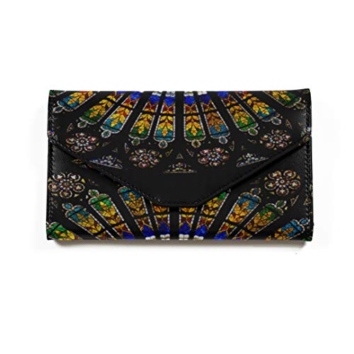 Passport Wallet For Women Interior Cathedral Notre Dame Strasbourg Alsace Large Long Blocking Microfiber Leather Ladies Passport Cover