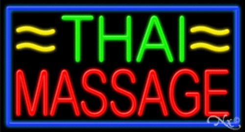 Thai Massage Handcrafted Energy Efficient Real Glasstube Neon Sign by Accent Printing & Signs