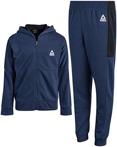 Reebok Boys' Tracksuit – Fleece Athletic Sweatshirt with Jogger Sweatpants (Toddler/Little Boys/Big Boys)