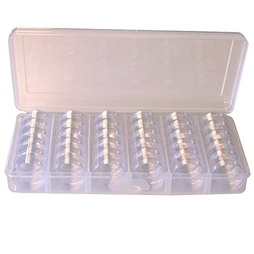 Storage Box Divider Tray 30 Round Stackable Clear Containers Multi-Functional Organizer for Small Items -