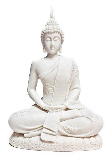 Bellaa 23729 Buddha Statue Dhyana Mudra Meditating Sitting 8