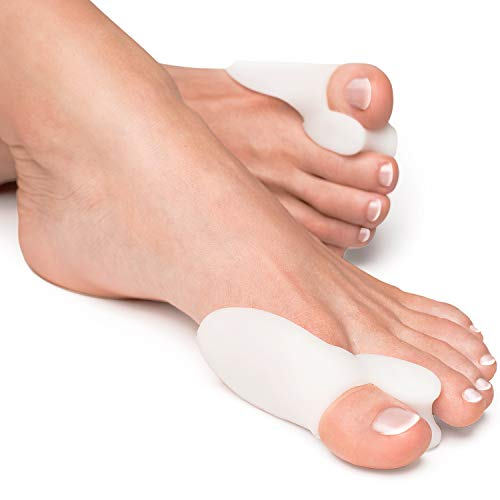 🥇 YogaMedic Hallux Valgus Corrector de Juanetes [6x] – Separador silicon de dedos – 0% BPA – Talla universal
