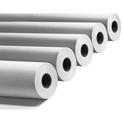 Plotterpapier 6 Rollen | 90g/m², 91,4cm (914mm) breit, 50m lang, CAD, A0 unbeschichtet